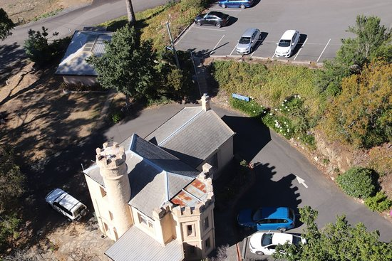 Shot Tower: The parking and the castle