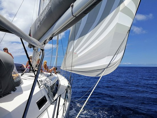 Vila Franca do Campo, Portugal: Jennaker sailing