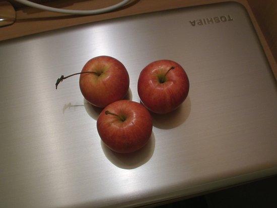 Inhalt des kostenlosen Obstkorbes.