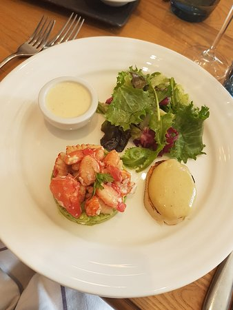 Local crayfish with avocado - what a delight!