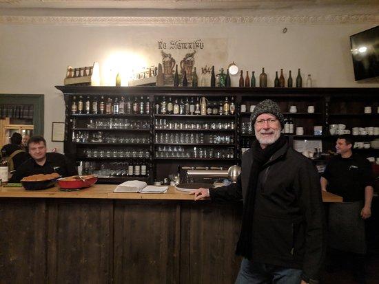 Bar and bottles at Na Slmniku