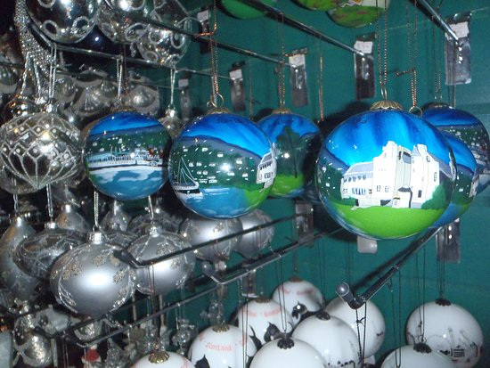 The Olde Christmas Shoppe: Hand Painted Glass bauble - Helensburgh