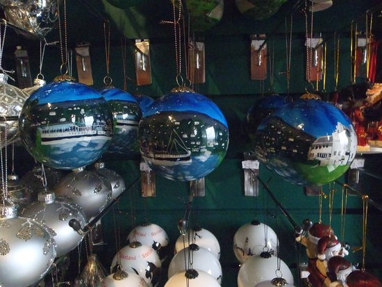 Hand Painted Glass bauble - Helensburgh