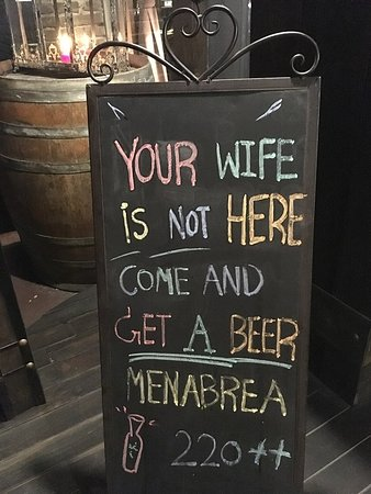 Come in and get a beer.