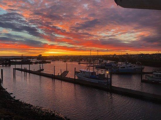 Sunrise window view
