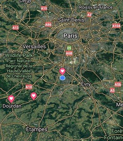 Camping Le Beau Village de Paris : Location of Camping Paris Beau Village