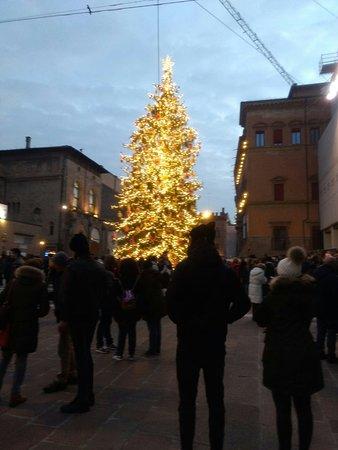 La piazza di Bologna