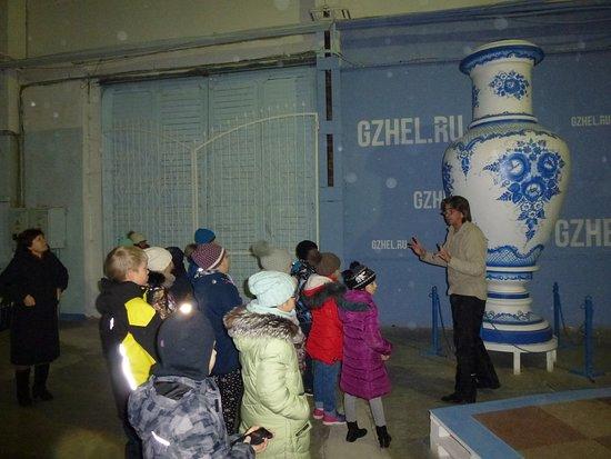 Gzhel Museum: Макет вазы высотой 4,5 метра