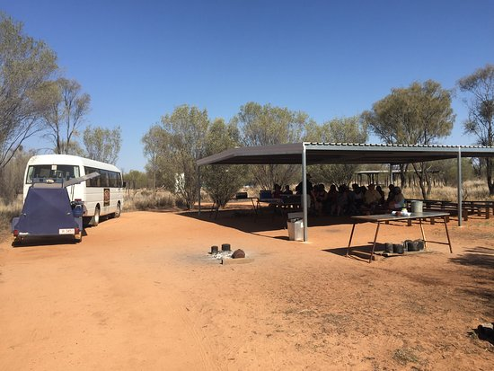Aboriginal Dreamtime & Bushtucker Tour: We were well shaded as we listened to our guide.