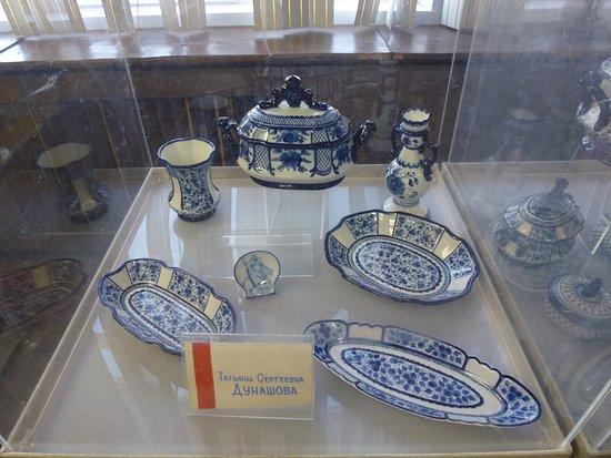 Gzhel Museum: Одна из витрин музея