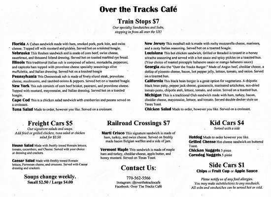 Temple, GA: A scan I made of the menu.