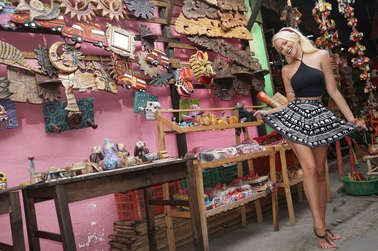 Enjoying the colourful street markets of Panajachel, Guatemala