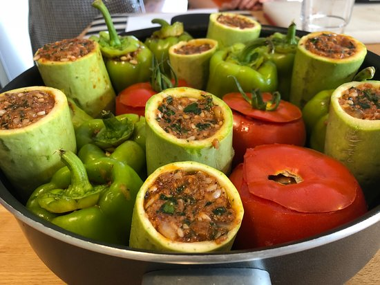 Istanbul Cooking School: Stuffed peppers