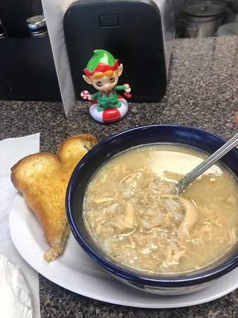 chicken and rice soup + grill cheese