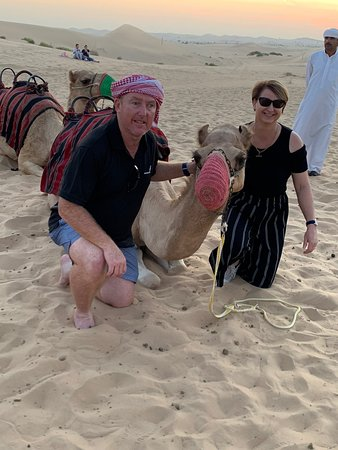 Evening Desert Safari With BBQ Dinner, Henna Painting, Camel Ride and Belly Dance: Friendly locals