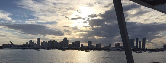 Miami skyline from the Miami Lady cruise boat