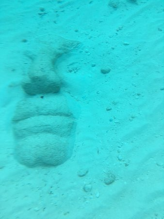 face - one of the sculptures