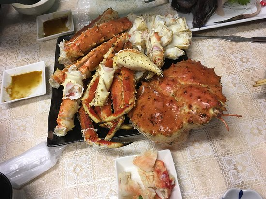 King crab at Sankaku fish market at Otaru