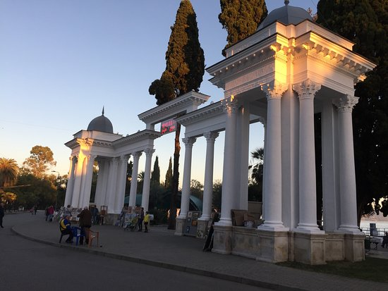 Colonnade at the Promenade of Sukhumi
