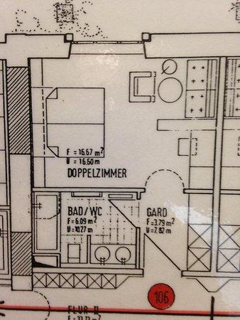 Plan d'ensemble de la chambre pour en apprécier sa taille