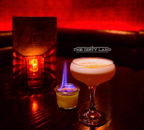 Wild turkey Bourbon, Frangelico, gingerbread syrup, fresh lemon juice shaken with egg white for a silky texture.