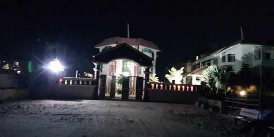 Night view of Hotel Jeevan Sandhya Inn, Puri, Odisha, India