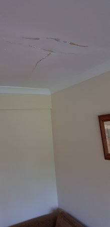 Mind the spill.. celling  in living area