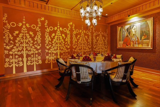 Maharaja Private Dining Room with Mughal Era art