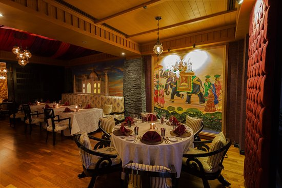 Hand-made ancient Mughal art offers the perfect environs for an exceptional fine-dining experience.