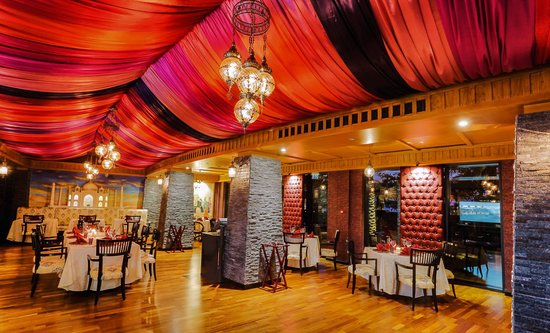 Another angle of the grand dining hall of Rivaaj.