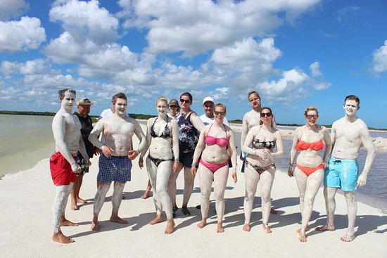Playa del Carmen, Mexikó: Rio Largatos... einreiben mit Heilschlamm. 😂