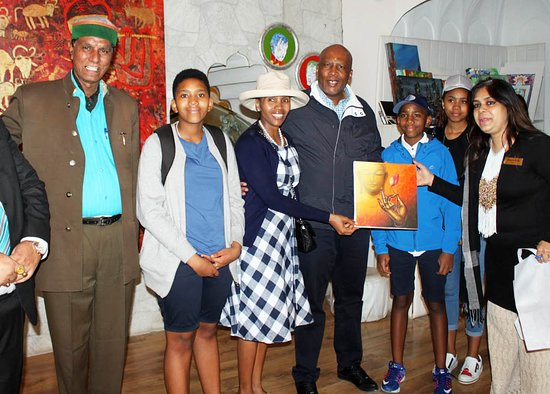 King Letsie III & Queen 'Masenate Mohato Seeiso of Lesotho visited  the beautiful Art Gallery inside the Amber Fort, Jaipur