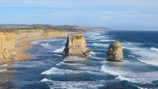Some of the Twelve Apostles on the Great Ocean Road in Australia