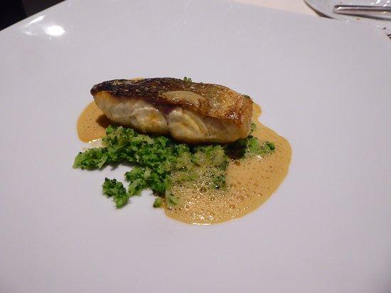 Loup de mer auf Brokkoli-Gemüse