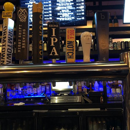Solid craft beer and cocktail selection at Blue on Highland in Needham, MA.