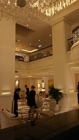 This is the hotel lobby.