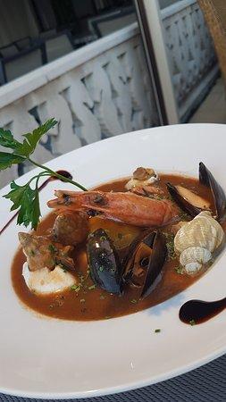 Brasserie de la Promenade: L'excellente soupe de poissons.