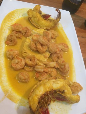 K.F. William: Variety of Saefood in Coconut sauce