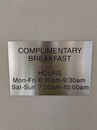 Fairfield Inn & Suites Ocean City: Breakfast hours