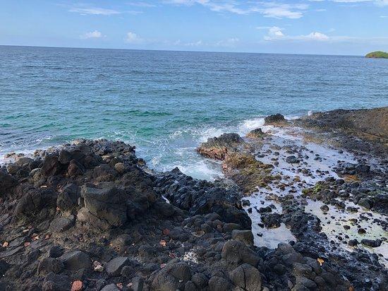 Red Frog Beach: Este rompeolas es desde Playa Red Frog, Isla Bastimentos y es simplemente hermoso!