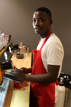 Simba. One of our trustworthy baristas