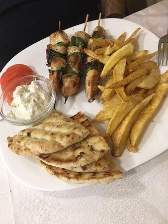 Hermes-souvlaki poulet