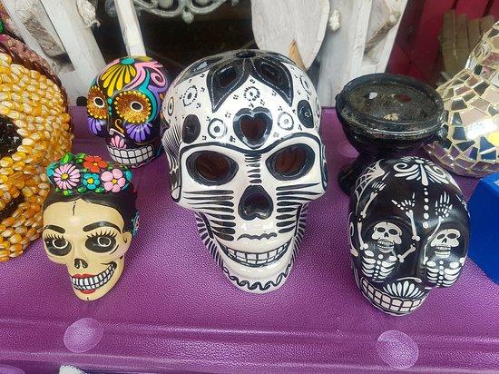 Playa del Carmen, Mexikó: Mexican death skulls