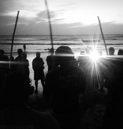 Capoeira al atardecer. Jericoacoara. Abril 2017