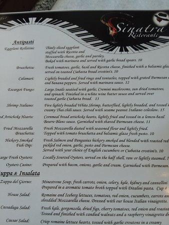 Sinatra's L'Aldila Restaurant: menu 2