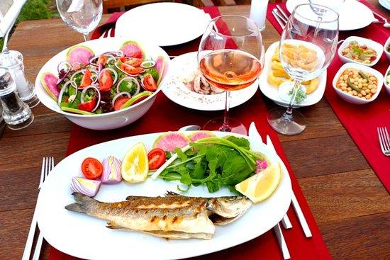 Akdeniz ve Ege mutfağına ait zengin meze çeşitlerini günlük ve taze bir şekilde sunuyoruz.