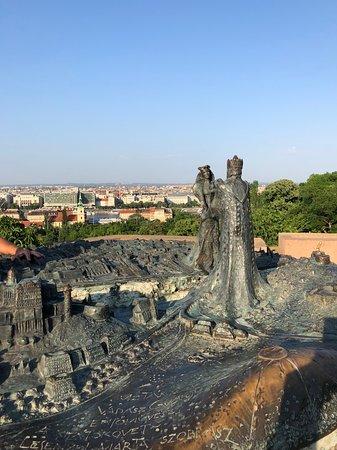 Garden of Philosophy over looking Budapest.