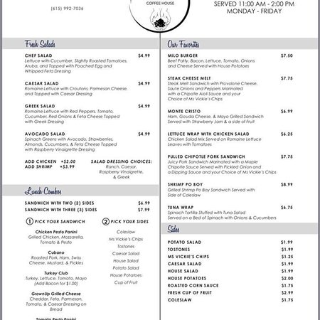 Portland, Теннесси: Milo menus. Things do change, so stop by for the updated versions and order something tasty!