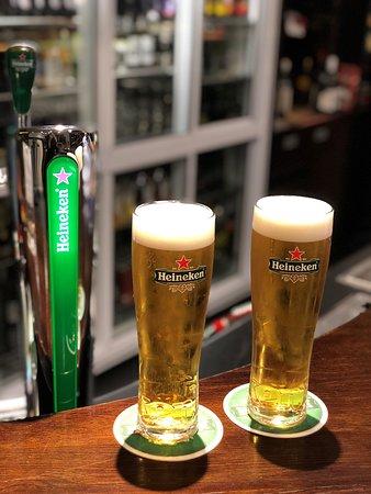 Heineken on tap in the Rec bar