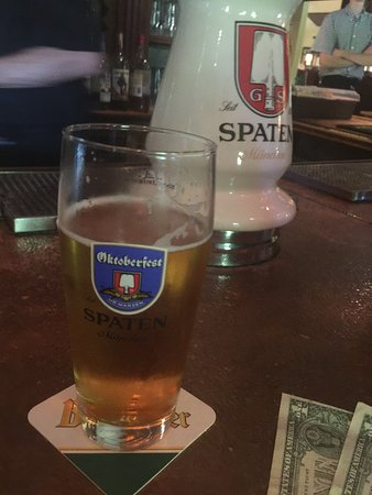 Having lived in Muenchen for several years I had to have one of their beers - so Spaten it was...